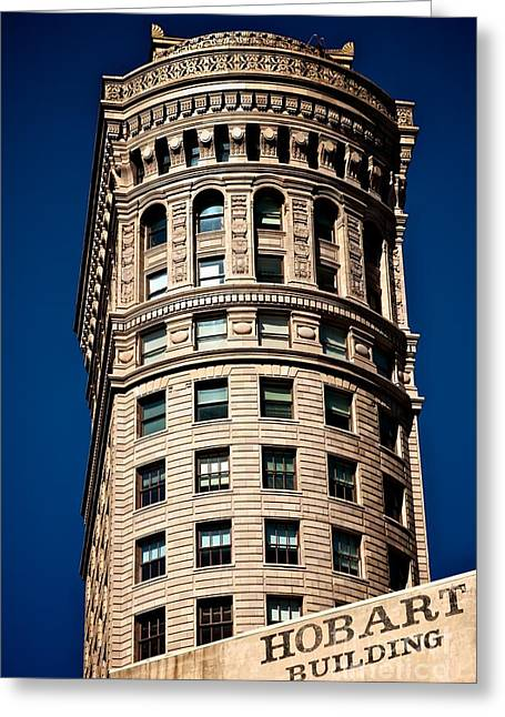 Hobart Building In San Francisco Ll - Colour Greeting Card