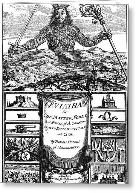 Hobbes: Leviathan, 1651 Greeting Card