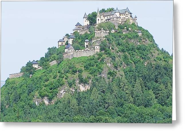 Hochosterwitz Castle Austria Greeting Card by Joseph Hendrix