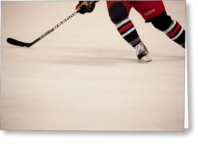 Hockey Stride Greeting Card by Karol Livote