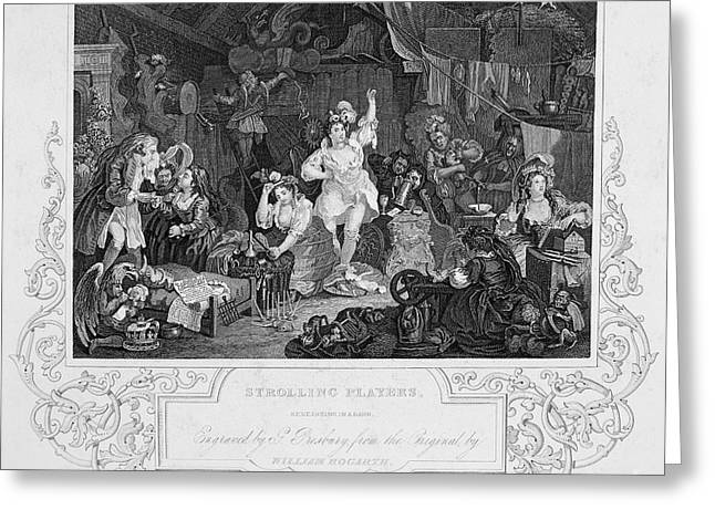 Hogarth: Actresses Greeting Card