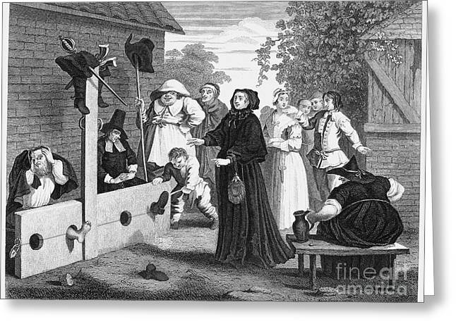 Hogarth: Hudibras, 1726 Greeting Card