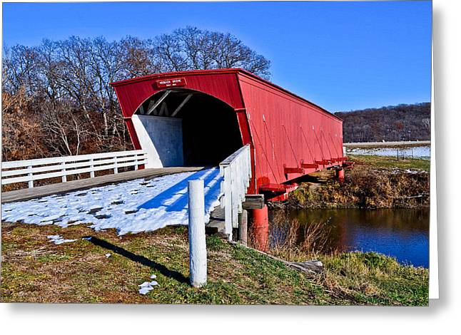 Hogback Covered Bridge Greeting Card by Julio n Brenda JnB