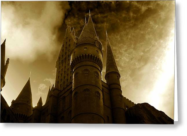 Hogwarts Castle Greeting Card by David Lee Thompson