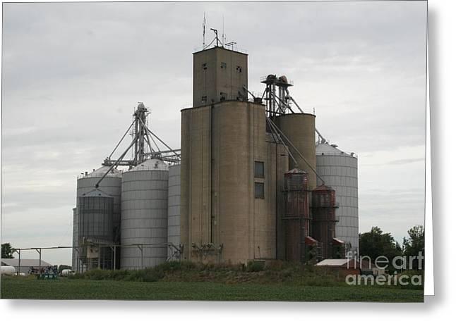 Holder Grain Elevator Greeting Card by Roger Look
