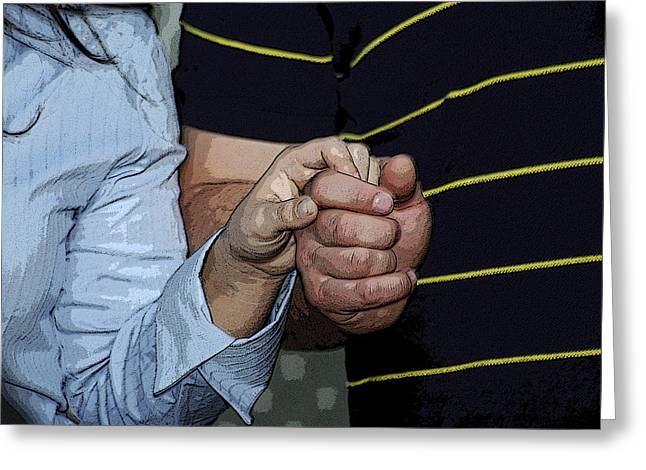 Greeting Card featuring the photograph Holding Hands by Carolyn Marshall