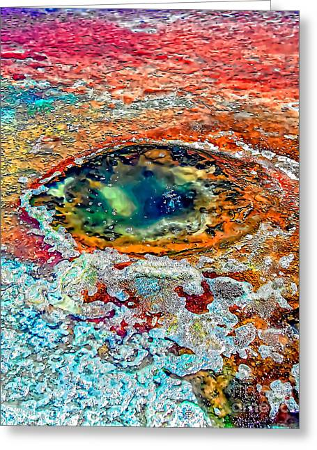 Hole In The Ground Greeting Card