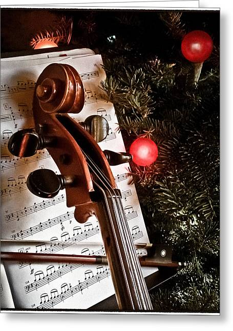 Albuquerque, New Mexico - Holiday Cello Greeting Card