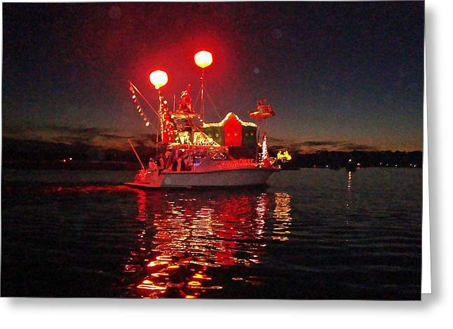 Holiday Flotilla  Greeting Card