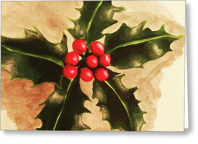 Holly And Ivy Greeting Card