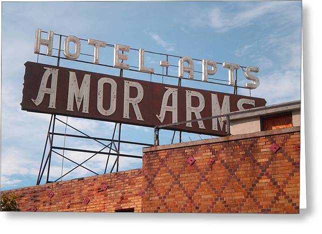 Hollywood Amor Arms Greeting Card by Sandy Fisher