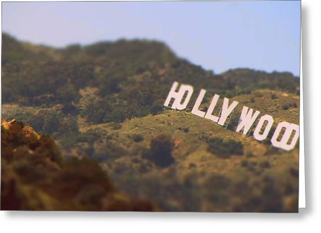 Hollywood Living Greeting Card by Brad Scott