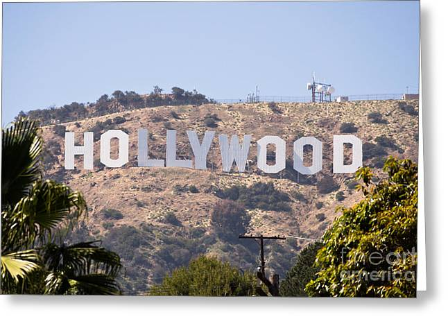 Hollywood Sign Photo Greeting Card by Paul Velgos