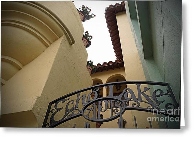 Hollywood Studio's - Echo Lake Apts. Greeting Card by AK Photography