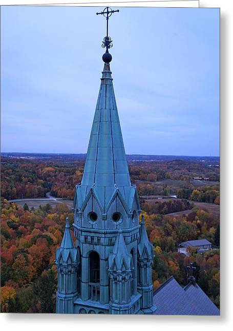 Greeting Card featuring the photograph Holy Hill Steeple  by Kristine Bogdanovich
