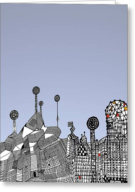 Homage To Gaudi Greeting Card by Andy  Mercer