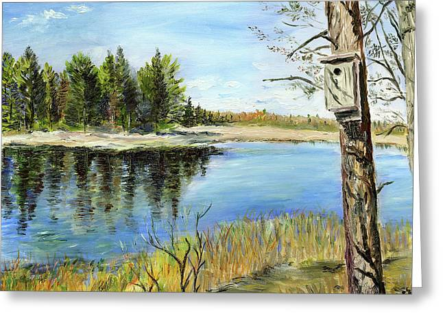 Home At Dragonfly Pond Greeting Card