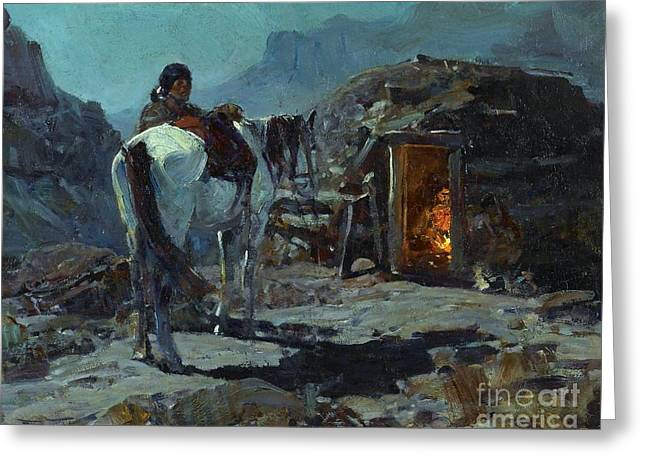 Home Of The Navajo Greeting Card by Pg Reproductions