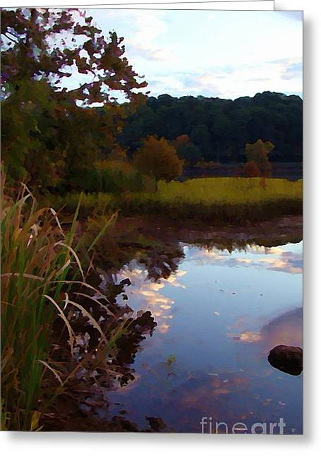 Home Town Reflections Greeting Card