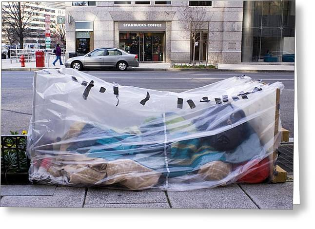 Homeless Person In Washington Dc Greeting Card by Mark Williamson