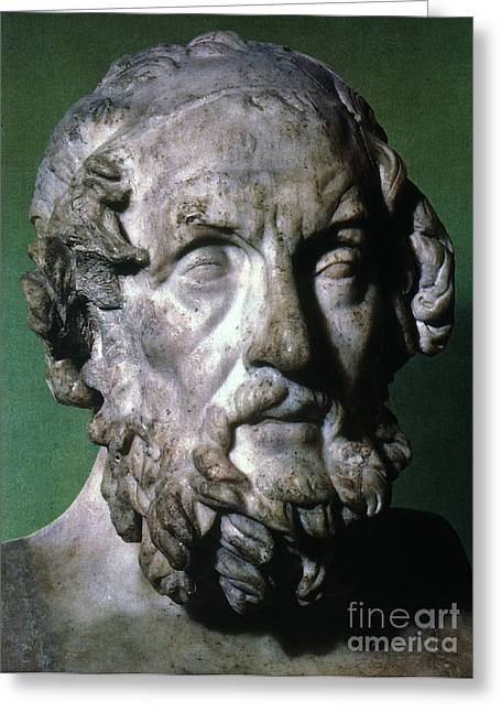 Homer (9th-8th Century B.c.) Greeting Card by Granger
