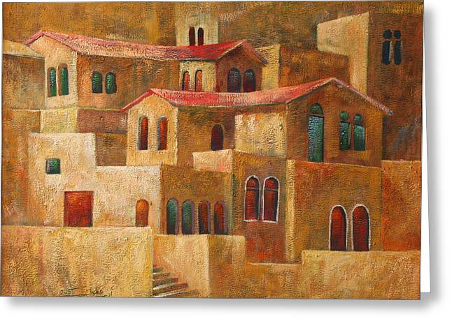 Homes Greeting Card by Adeeb Atwan