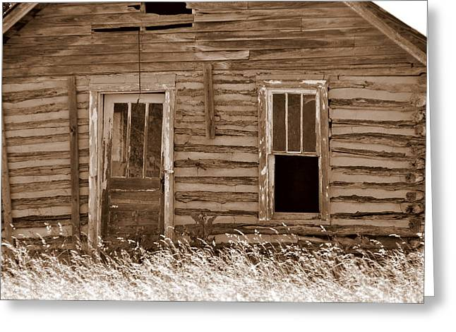 Homestead Past Greeting Card by Marty Koch