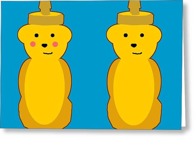 Honey Bears Greeting Card by Jera Sky