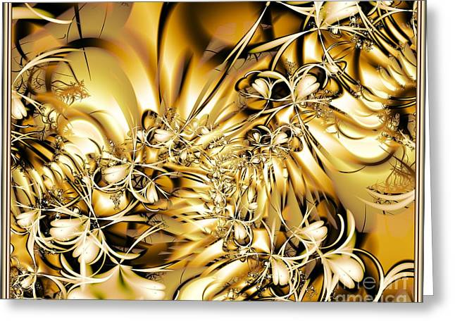 Honeysuckle Gold Greeting Card by Michelle H