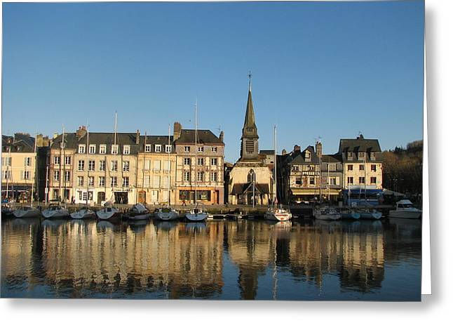 Greeting Card featuring the photograph Honfleur  by Carla Parris
