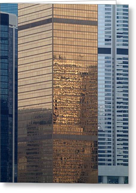 Greeting Card featuring the photograph Hong Kong Gold by Michael Canning