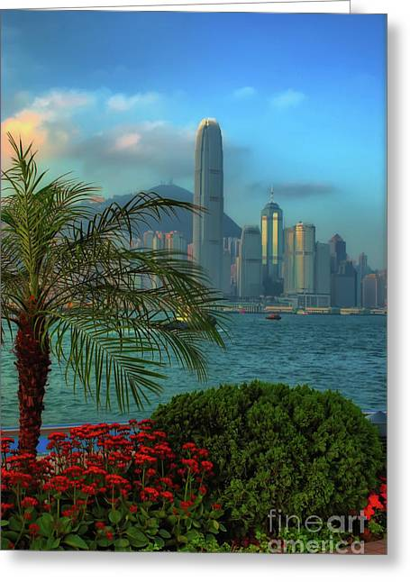 Hong Kong Mornings Greeting Card