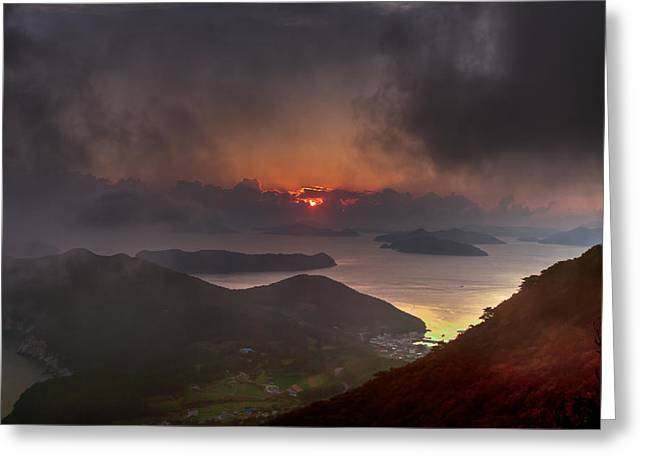 Hongpo Sunset South Korea  Greeting Card