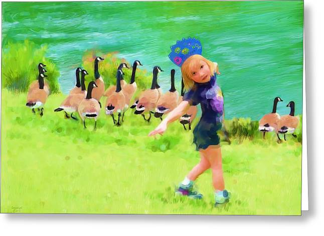 Honker Ballet Princess Greeting Card by Cindy Wright