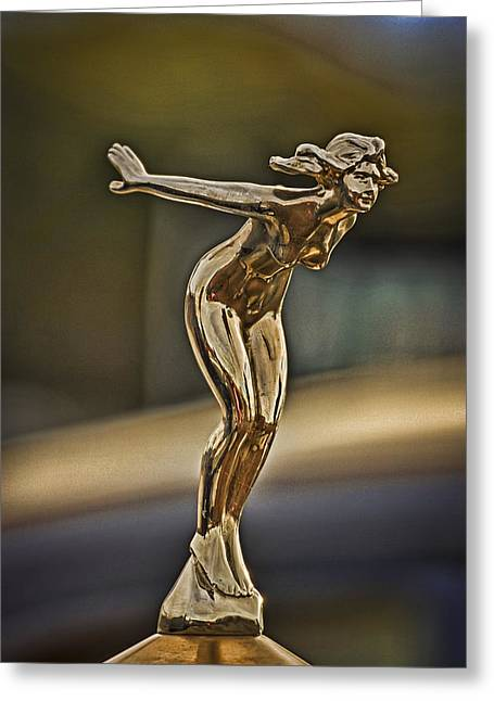 Hood Ornament Greeting Card by Rene Martens