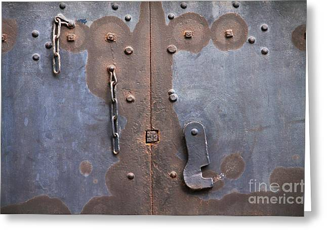 Hooked And Chained Greeting Card by Dan Holm