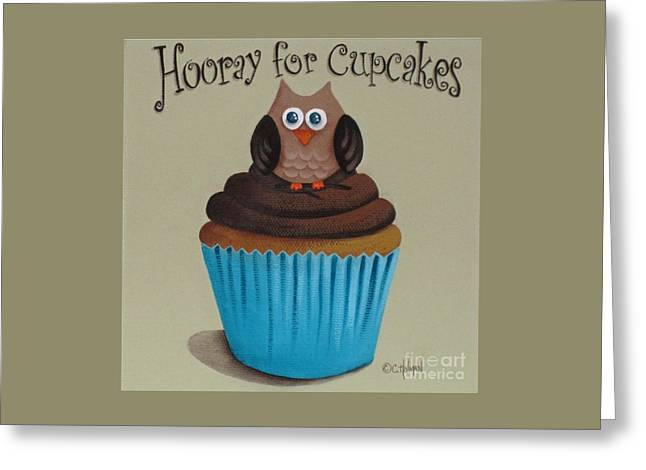 Hooray For Cupcakes Greeting Card by Catherine Holman