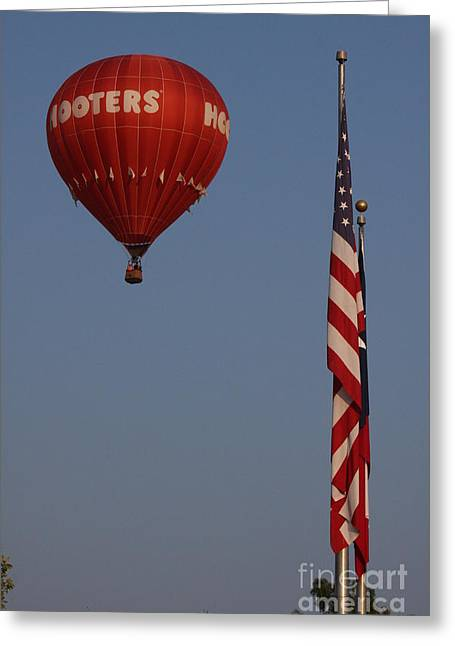 Hooters American Flag Greeting Card by Jerry Bunger