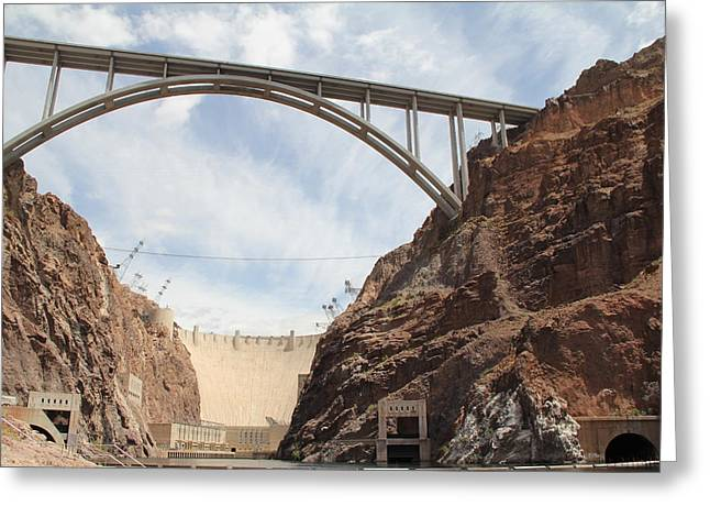 Hoover Dam Greeting Card by Kim French