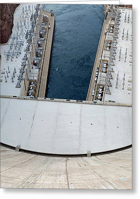 Hoover Dam Panorama Greeting Card by Twenty Two North Photography