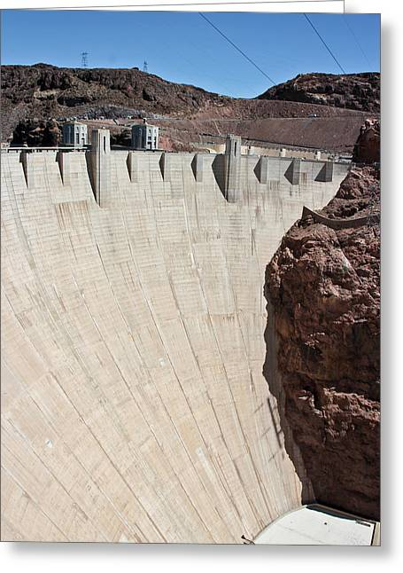 Hoover Dam Spillway Greeting Card by Heidi Smith