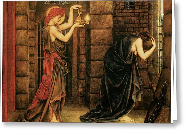Hope In The Prison Of Despair Greeting Card by Evelyn De Morgan