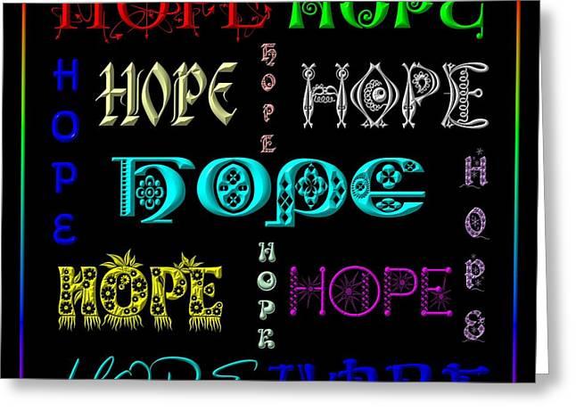 Hope Greeting Card by Rose Santuci-Sofranko