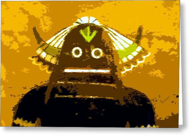 Hopi Kachina With Feathers Greeting Card