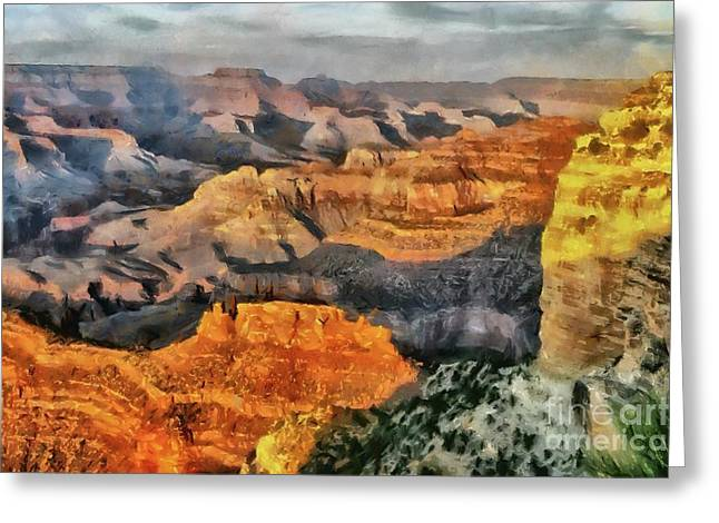 Hopi Point - Grand Canyon Sunset Greeting Card