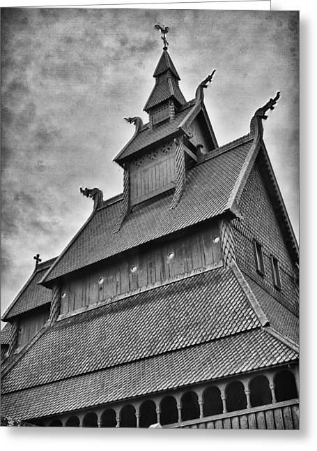 Hopperstad Stave Church Greeting Card by A A