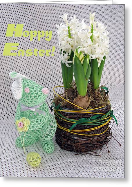 Hoppy Easter Says The Bunny Greeting Card