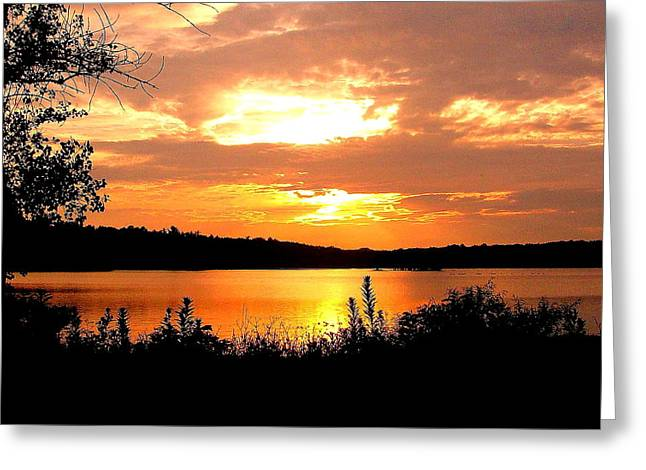 Horn Pond Sunset 2 Greeting Card