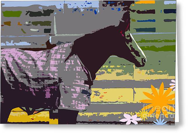 Horse Art For Children Greeting Card by ArtyZen Kids