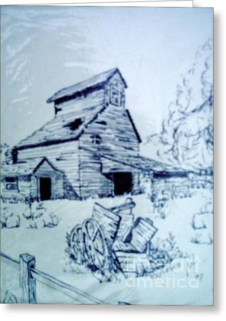 Horse Barn On Redwood Road Greeting Card